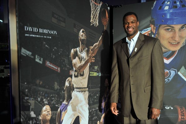 David Robinson wins the 2011 Sports Illustrated Sportsman of the Year.