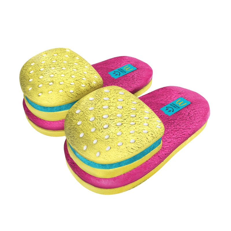 Hamburger slippers from J Balvin and McDonald's collaboration
