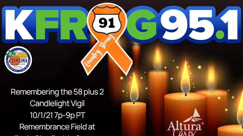 K-FROG's Route 91 Candlelight Vigil