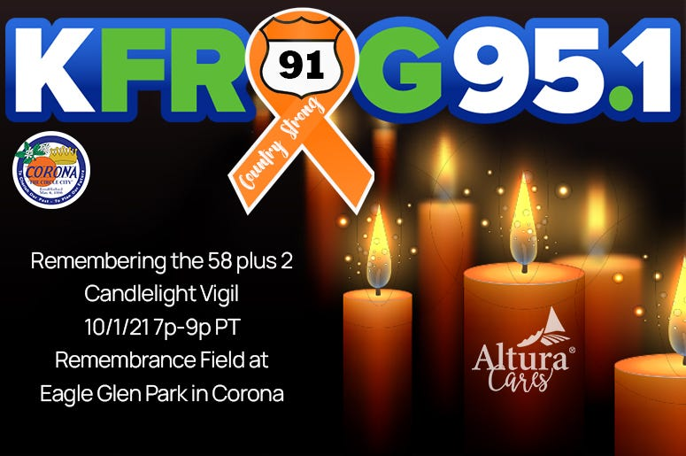 KFROG Route 91 Candlelight Vigil