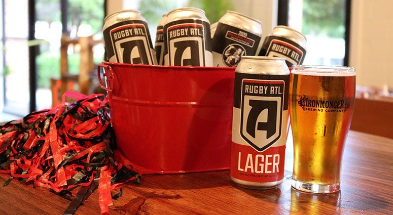 Rugby ATL Lager Ironmonger Brewing