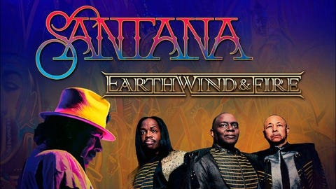 Santana and Earth Wind & Fire: Miraculous Supernatural Tour