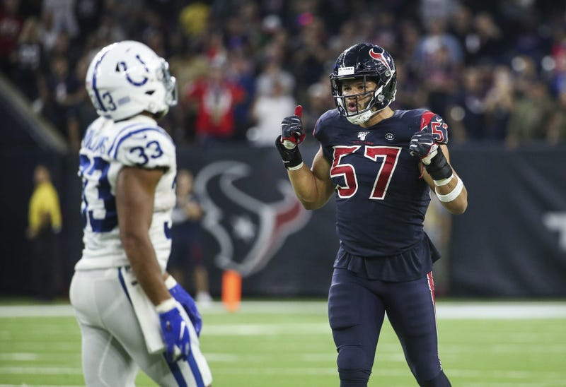 Brennan Scarlett makes big tackle in the fourth quarter to help seal Texans victory