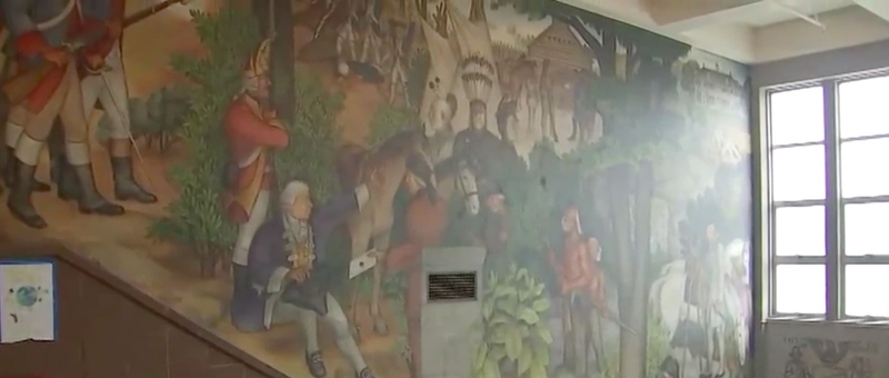 The school board for San Francisco public schools voted to cover up this mural at Washington High School.