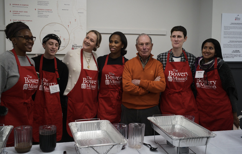 Michael Bloomberg Bowery Mission