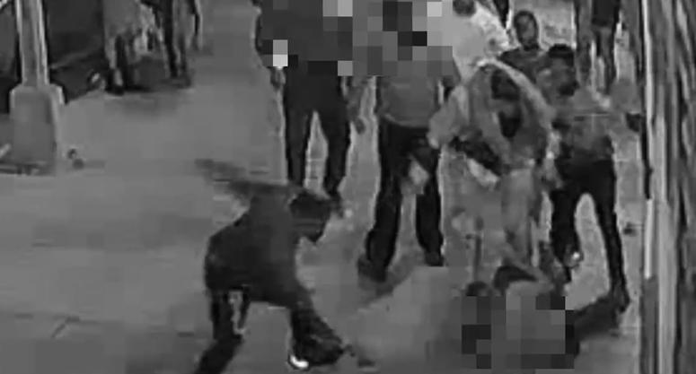 Man beaten slashed outside bar