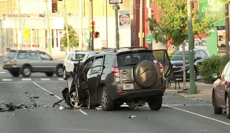 Mayfair multi-car crash