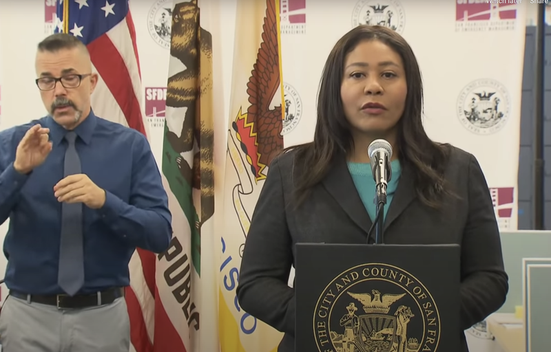 Mayor London Breed addressing curfew due to George Floyd protests during public safety press conference on May 31, 2020