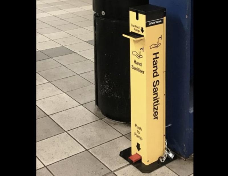 Hand sanitzer MTA