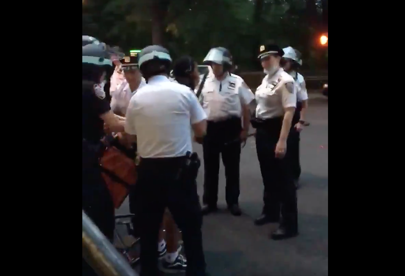 Video shows the NYPD detaining a delivery worker