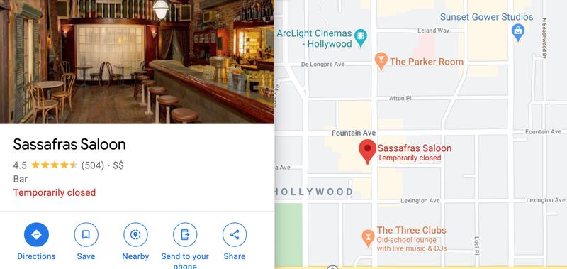 Sassafras Bar (Courtesy Google Maps)