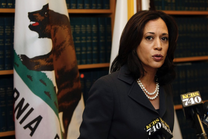 Kamala Harris as San Francisco District Attorney in 2010.