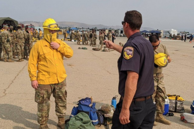 National Guard Versus California Fires, US Army