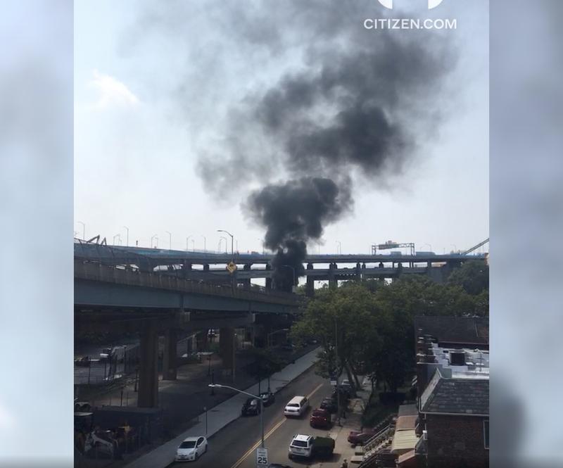 Fire on belt parkway