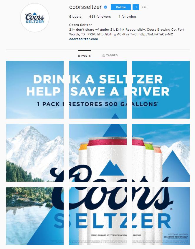Coors Seltzer, Instagram, Saving Wildlife, River
