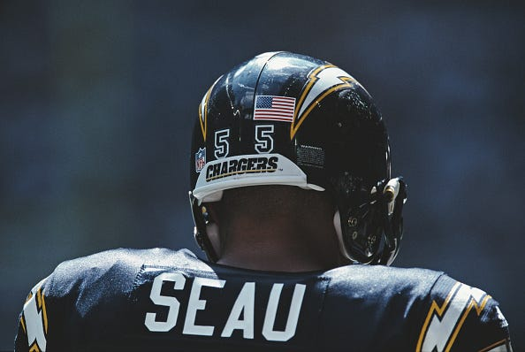 Junior Seau with the San Diego Chargers.