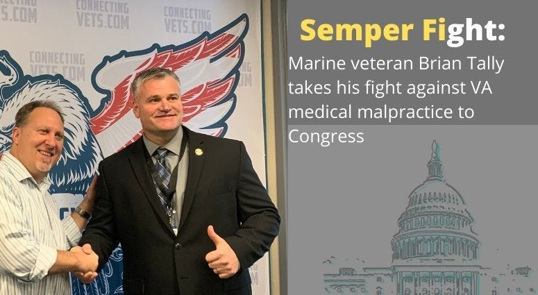 Brian Tally's goes to Congress to fight VA medical malpractice