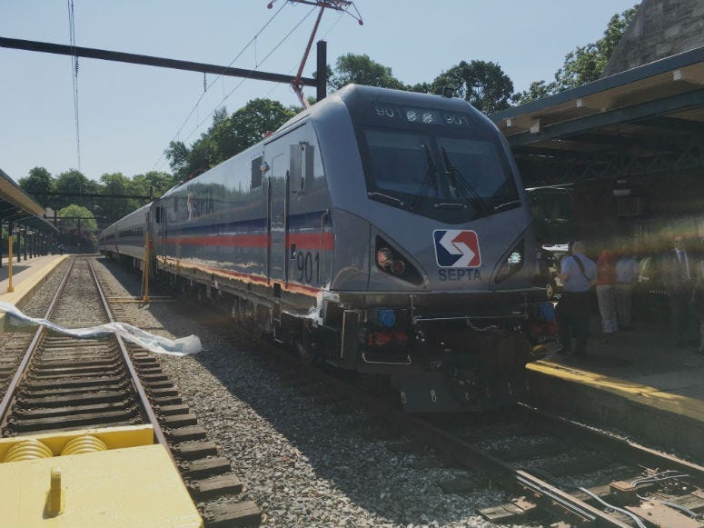 FILE -- The first of SEPTA's new Regional Rail locomotives are going into service