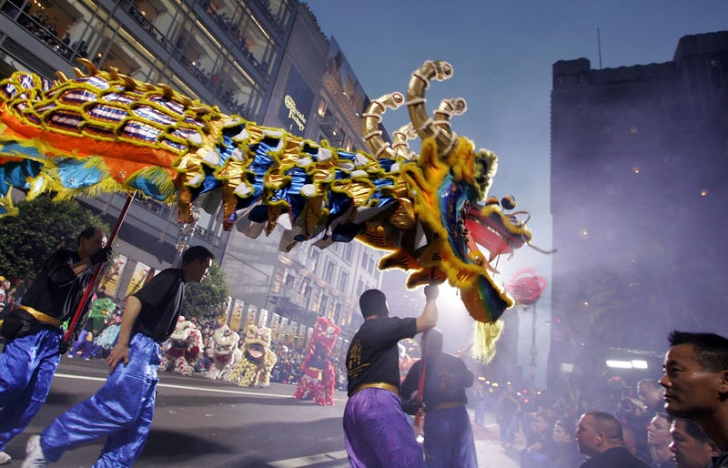 Members of a dragon team perform during the San Francisco Chinese New Year Parade of March 2007. This year's parade begins on Saturday, February 8 at 5:15pm from Market and 2nd Streets.