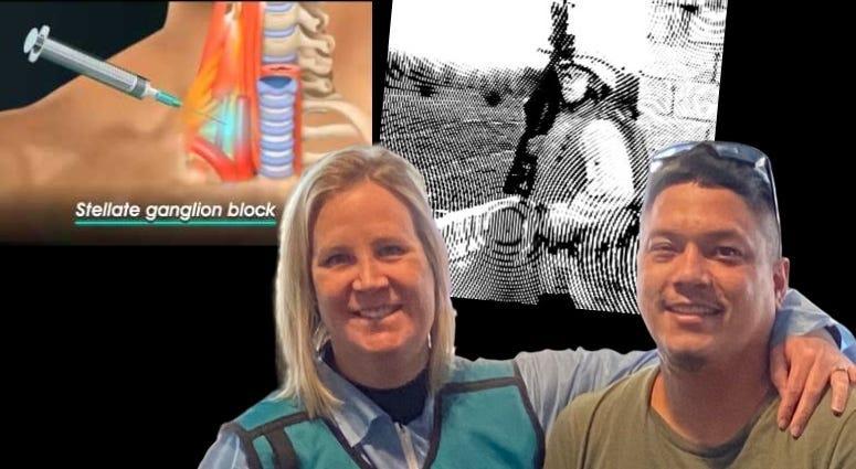 Arturo Weber and Doc Shauna Springer share SGB neck injections treat PTSD