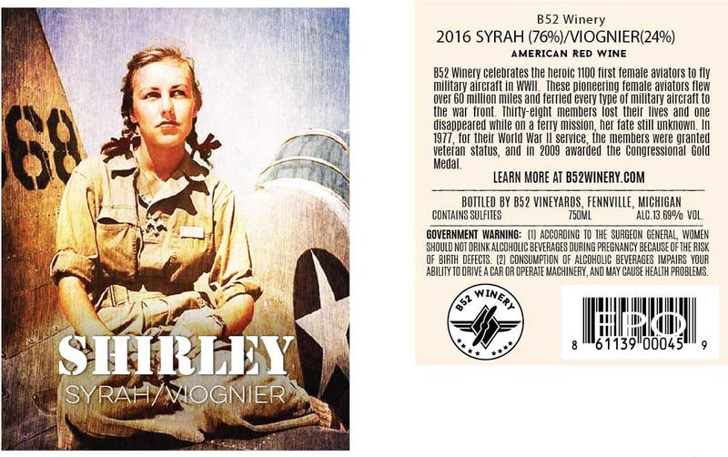 Shirley Wine Label