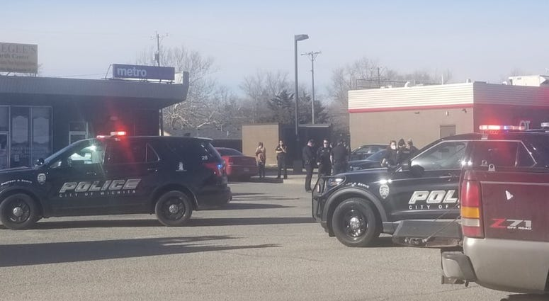 Shooting scene in Wichita Thursday afternoon, Jan. 14.