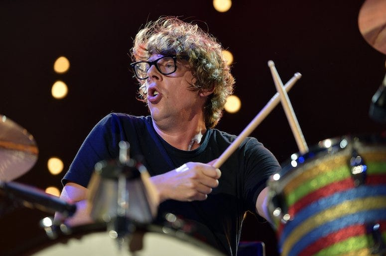 Patrick Carney, The Black Keys, Drumming, Concert, Black Shirt, 2013