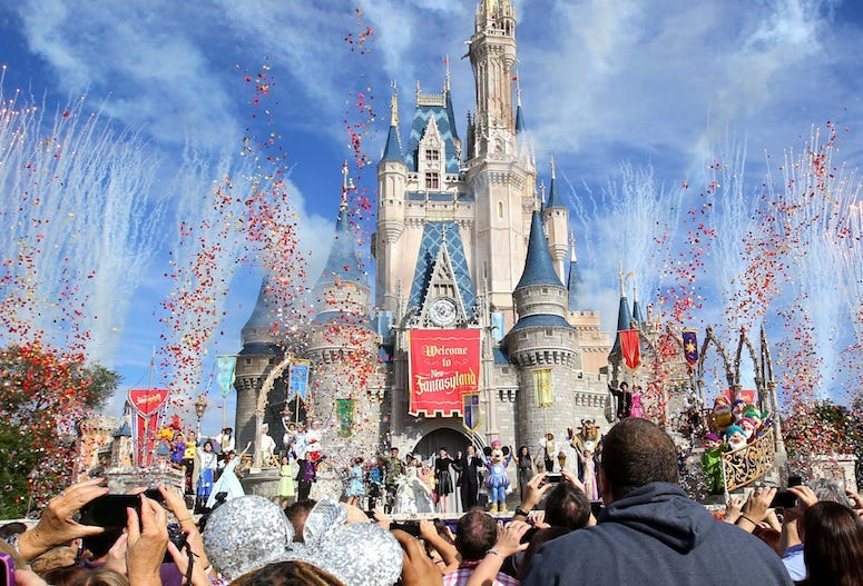Disney World, Magic Kingdom, Cinderella Castle, Confetti, New Fantasyland, 2012