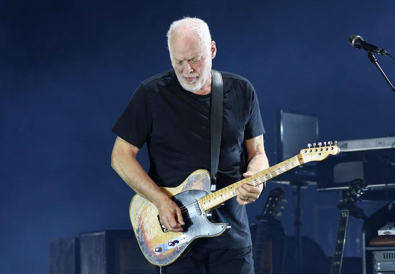 David Gilmour, Pink Floyd, Guitar, Concert, Madison Square Garden, 2016