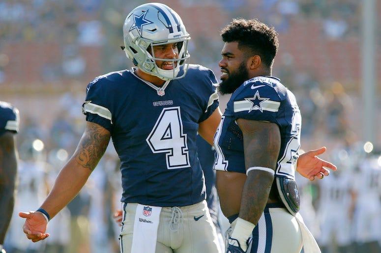 Dak Prescott, Ezekiel Elliott, Dallas Cowboys, Game, 2017