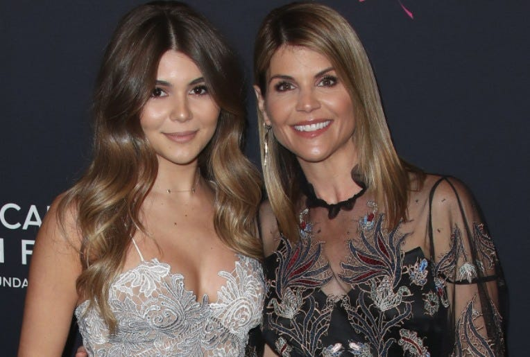 BEVERLY HILLS, CA - FEBRUARY 27: Olivia Jade Giannulli and Lori Loughlin at An Unforgettable Evening at the Beverly Wilshire Four Seasons Hotel on February 27, 2018 in Beverly Hills, California