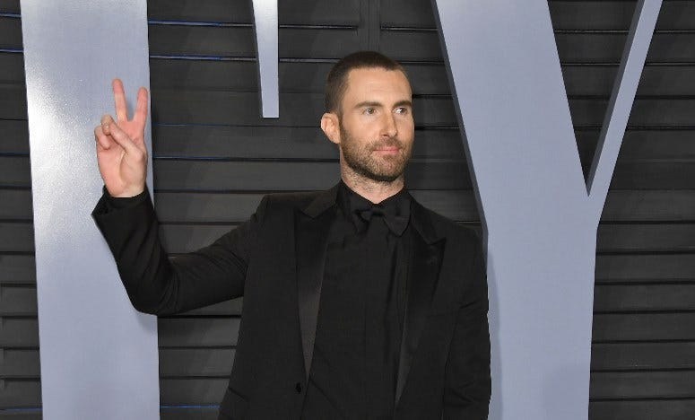 04 March 2018 - Los Angeles, California - Adam Levine. 2018 Vanity Fair Oscar Party hosted following the 90th Academy Awards held at the Wallis Annenberg Center for the Performing Arts
