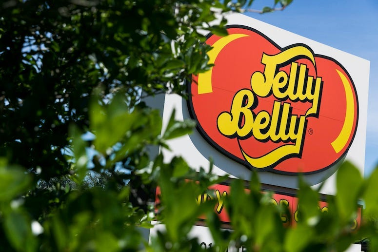 Jelly Belly, Sign, Logo, Leaves, Bush