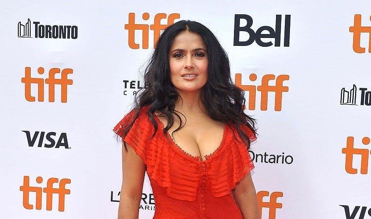"08 September 2018 - Toronto, Ontario, Canada - Salma Hayek. ""The Hummingbird Project"" Premiere - 2018 Toronto International Film Festival held at the Princess of Wales Theatre."
