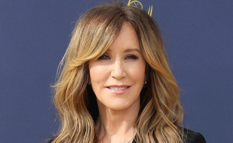 Felicity Huffman at the 70th Primetime Emmy Awards at the Microsoft Theater on September 17, 2018 in Los Angeles, California.