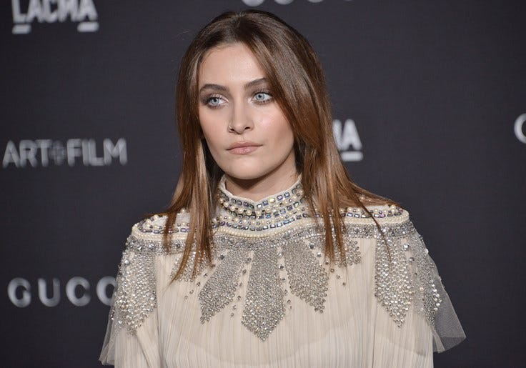 Paris Jackson arrives at the 2018 LACMA Art + Film Gala held at LACMA in Los Angeles, CA on Saturday, ​November 3, 2018.