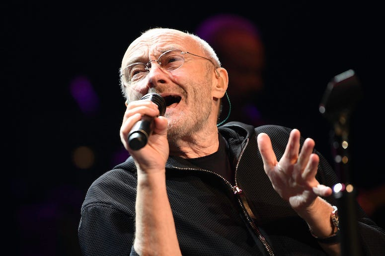 Phil Collins, Concert, Singing, Dreaming on the Beach, 2018