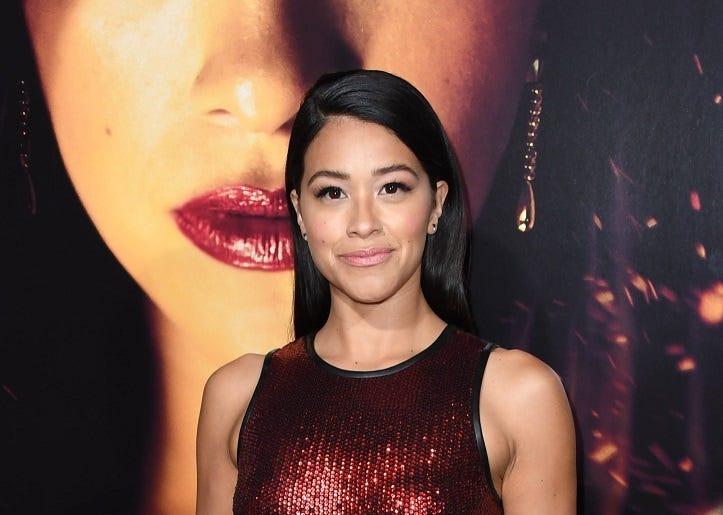 "30 January 2019 - Los Angeles, California - Gina Rodriguez. ""Miss Bala"" Los Angeles Premiere held at Regal Cinemas LA Live"