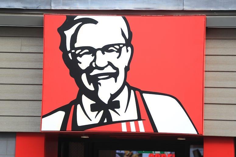 KFC, Kentucky Fried Chicken, Sign, Colonel Sanders, Restaurant, London, 2019