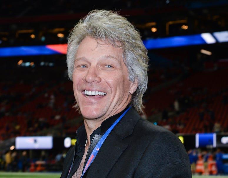 Jon Bon Jovi, Smile, Pregame, Field, Super Bowl LIII, Georgia