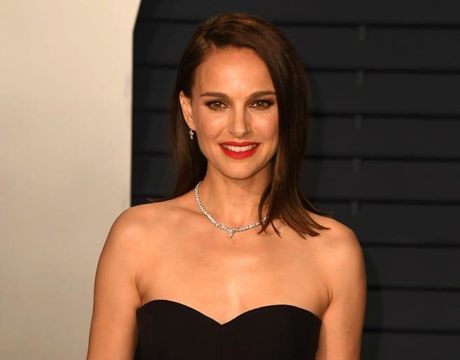 Natalie Portman at the Vanity Fair Oscar Party on February 24, 2019 in Los Angeles, California.
