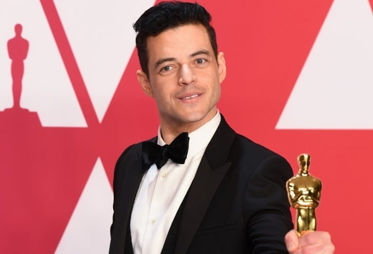 2/24/2019 - Rami Malek winner of the Best Actor Oscar in the press room at the 91st Academy Awards held at the Dolby Theatre in Hollywood, Los Angeles, USA