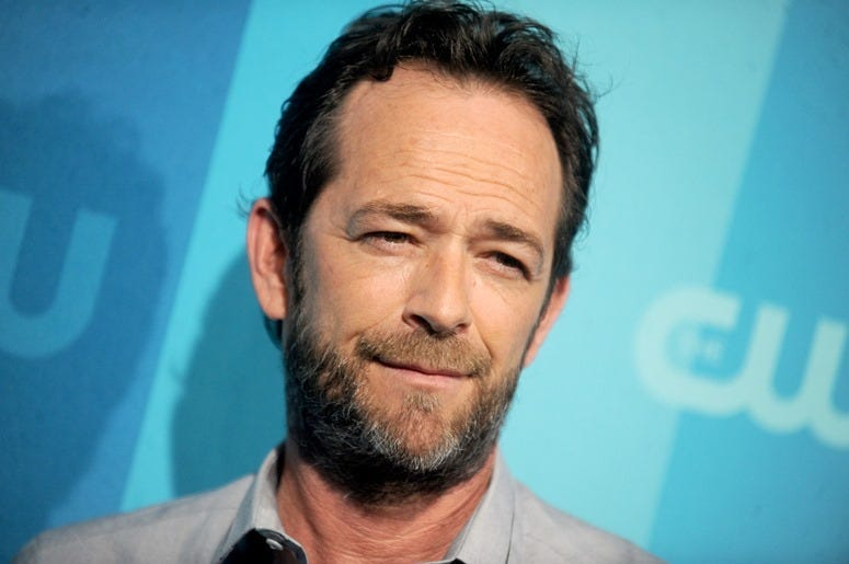 Luke Perry attending the 2017 CW Upfront in New York City, NY, USA, on May 18, 201