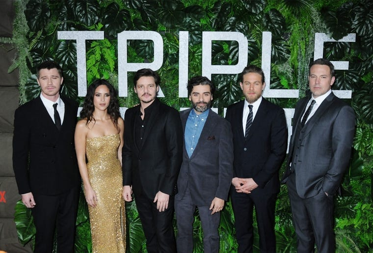 """03 March 2019 - New York, New York - CAST. The World Premiere of """"Triple Frontier"""" at Jazz at Lincoln Cente"""