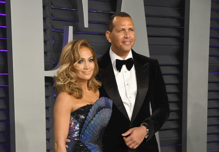 09 March 2018 - Music icon Jennifer Lopez and retired baseball star Alex Rodriguez are engaged after two years of dating. The couple then made their red carpet debut at the Met Gala in May 2017 and have inseparable since. 24 February 2019 - Los Angeles, C