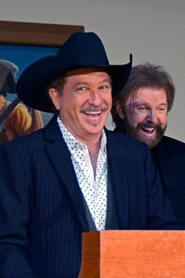 Kix Brooks, Ronnie Dunn, Brooks & Dunn. CMA Presents Country Music Hall Of Fame 2019 Inductee Ceremony at The Country Music Hall of Fame.