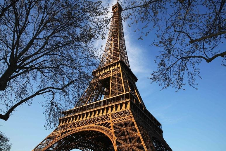 Photo taken on March 30, 2019 shows the Eiffel Tower in Paris, France