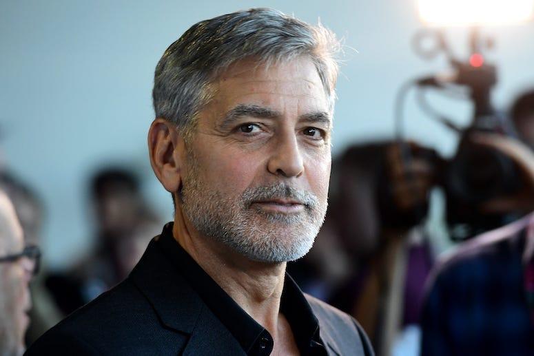 George Clooney, Red Carpet, Beard, Catch-22 UK Premiere, 2019