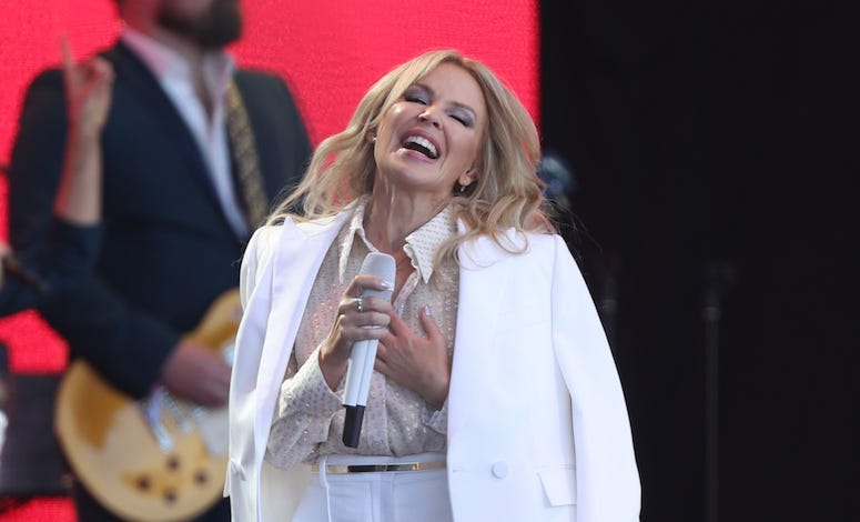 Kylie Minogue, Glastonbury, Concert, Performing, Smiling, 2019