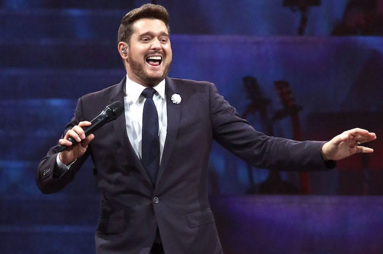 Michael Buble, Concert, Singing, Madison Square Garden, 2019